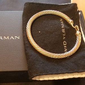David Yurman Jewelry - David Yurman 5mm cable hook bracelet with diamonds
